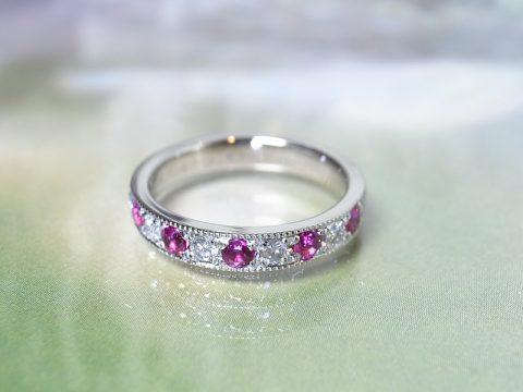 ルビー&ダイヤモンドの素敵なリング
