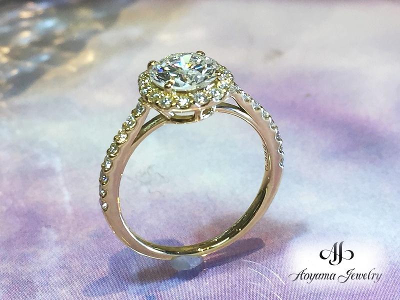 どの角度から見ても美しく見えるダイヤモンドリング